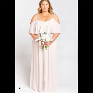 NWT Show Me Your Mumu Caitlin Ruffle Maxi Dress